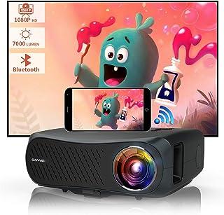 7000 Lumen Smart Projector Bluetooth Wireless 1080P Native Full HD Support 4K Movie Gaming TV DVD Digital LED LCD 1920x108...