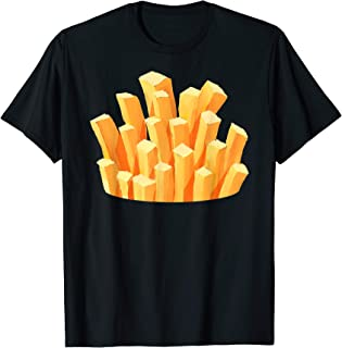 French Fries Costume Halloween Easy Cosplay Fastfood Outfit T-Shirt