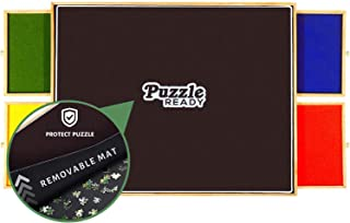Portable Puzzle Board & Storage Table - Quality Jigsaw Puzzle Board, Fits 1000 Piece Puzzles. Lightweight, Easy to Store, 4 Color Sliding Drawers, Plus Puzzle Mat, Fun at Your Fingertips, Great Gift