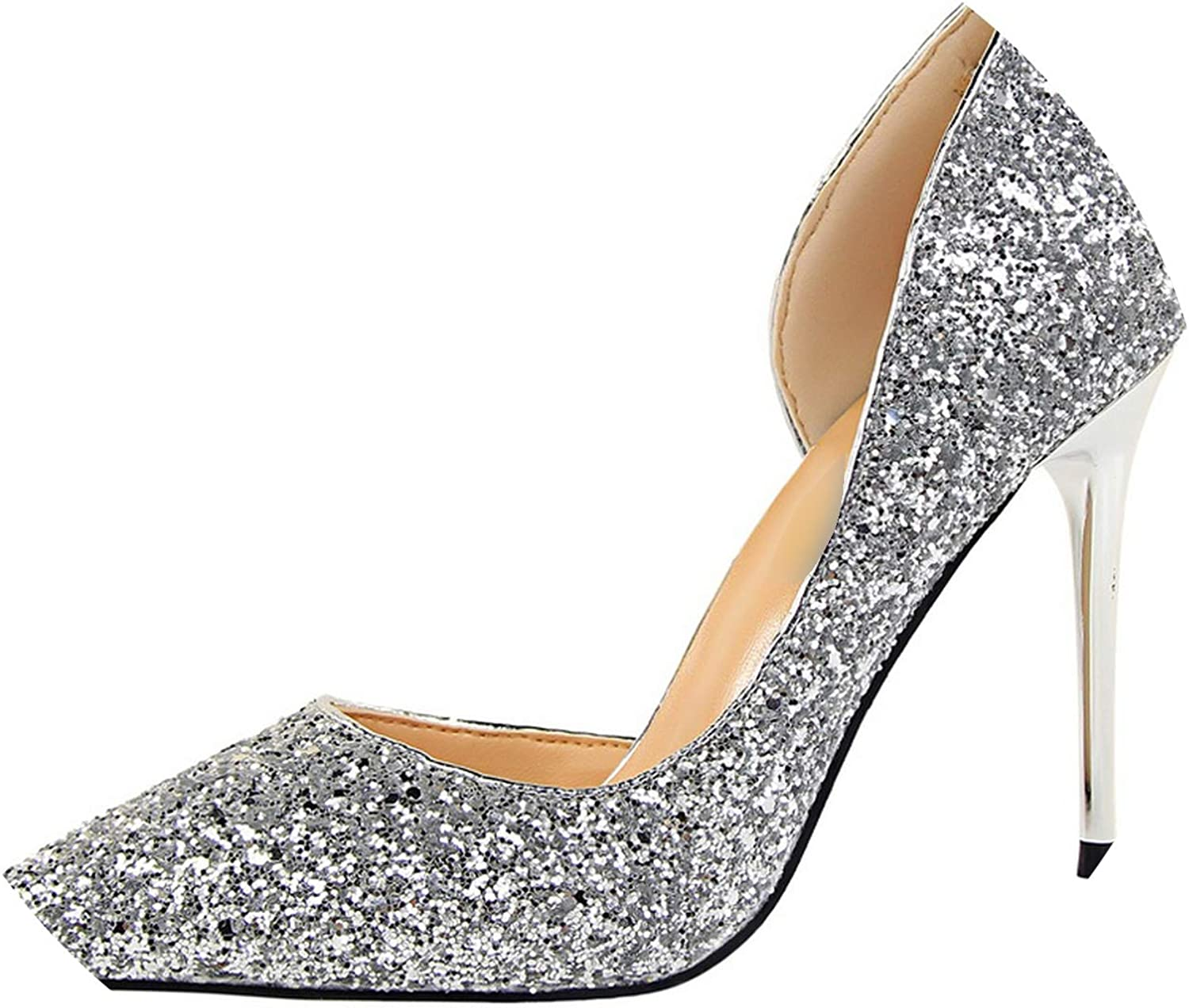 High Heels Fashion Women Pumps New Sequined Cloth Heels Sexy Wedding Party shoes Office Ladies shoes