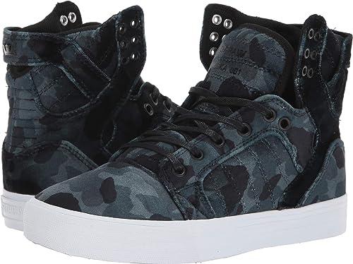Supra Chaussures Skytop noir noir Camo blanc  meilleure mode