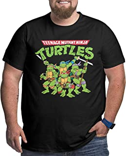 TicTicTok Teenage Mutant Ninja Turtles Men's Big Size T-Shirts Black