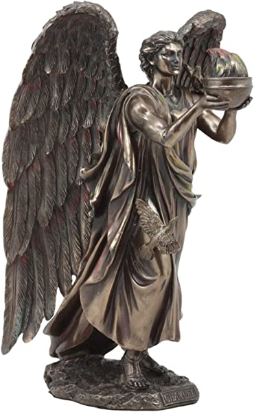 Ebros Archangel Chamuel Statue 9 5 Tall He Who Sees God Angel Chamuel Carrying Holy Flame Figurine