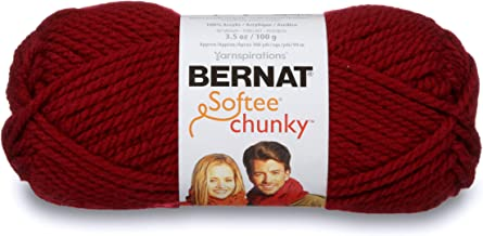 Bernat Softee Chunky Yarn, 3.5 Oz, Gauge 6 Super Bulky, Wine