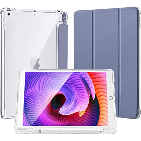 Pink 2020//2019 Full Protective iPad 10.2 Case with Apple Pencil Holder,Light Weight Soft TPU Translucent Frosted Back Smart Cover Cases LovRug Compatible for iPad 8//7th Generation Case