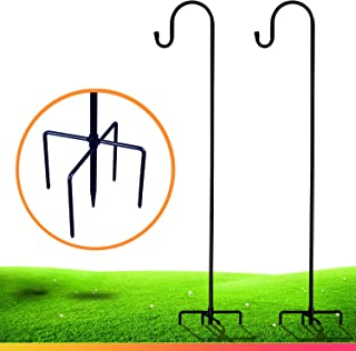 XDW-GIFTS Shepherd-Hooks for Bird-Feeder Lantern Plant-Hook Garden-Stake - 35 Inch 2 Pack Plant Stand Hanger for Outdoor F...
