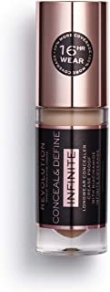 Makeup Revolution Conceal and Define Infinite, Full Coverage Conceal and Contour, Premium Makeup Concealer C10, Best Conce...
