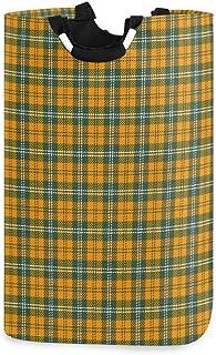 Support de panier à linge imperméable à carreaux écossais en tartan, grand panier de sac à linge pliable pour vêtements sa...