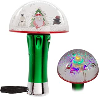 LED Light Up Christmas Tree Snow Globe Spinner Wand Toy for Kids