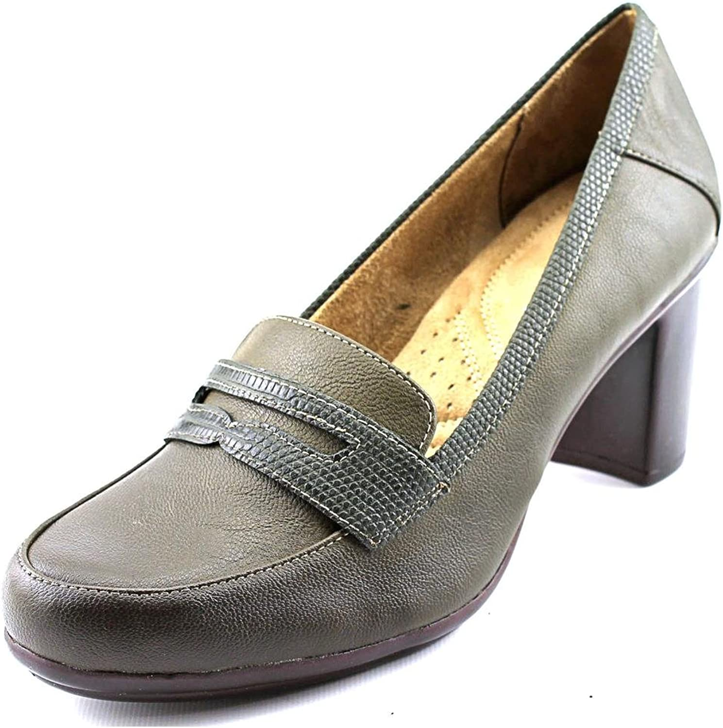 Naturalizer Womens Quirk Closed Toe Classic Pumps, Olive, Size 8.5
