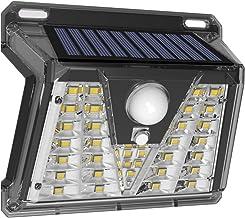 POSHIGE Sloar Lights Outdoor, 33 LEDs Super Bright Security Lights with 4 Lighting Modes, Waterproof Solar Motion Sensor L...