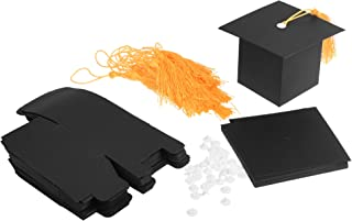 CM 20 Pcs Black Graduation Candy Boxes Party Favors, Graduation Cap Gift Box with Tassel