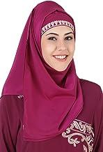 MyBatua Magenta Crepe Elegante estilo islámico mujeres vestir Hijab, traje islámico, Al-amira, Bufandas HJ-087