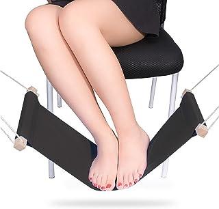 TinaWood Foot Hammock Under Desk Footrest/Adjustable Office Foot Rest Under Desk Hammock (Black)