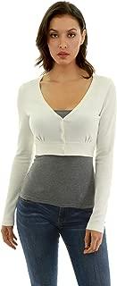 Women Button Down Long Sleeve Bolero Shrug