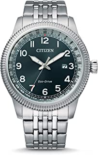 Citizen Men's Analogue Eco-Drive Watch with Stainless Steel Strap BM7480-81L