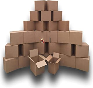 Moving Boxes Economy Value Kit for 2 Bedrooms - 30 Moving Boxes, Moving Supplies & Packing Tape.