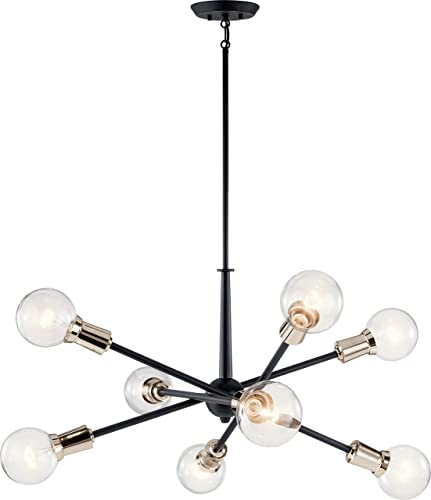2021 Kichler discount 43118BK sale Armstrong Chandelier, 8-Light, Black outlet sale