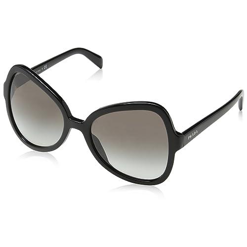 77b3a96facd Prada PR05SS 1AB0A7 Shiny Black PR05SS Butterfly Sunglasses Lens Category 2  Siz
