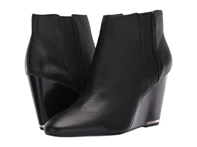 Kenneth Cole New York Merrick Wedge Bootie (Black Leather) Women