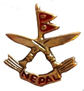Ghurka Military Cap Hat Pin Badge Medal British Army War Crossed Khukri n105