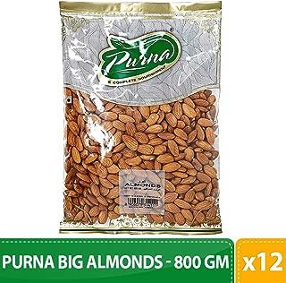 Purna Big Almonds - 800 gm(Pack of 12)