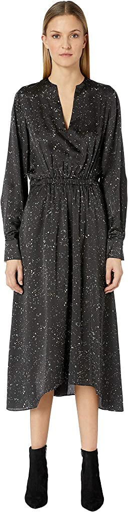 Constellation Print Poet Dress