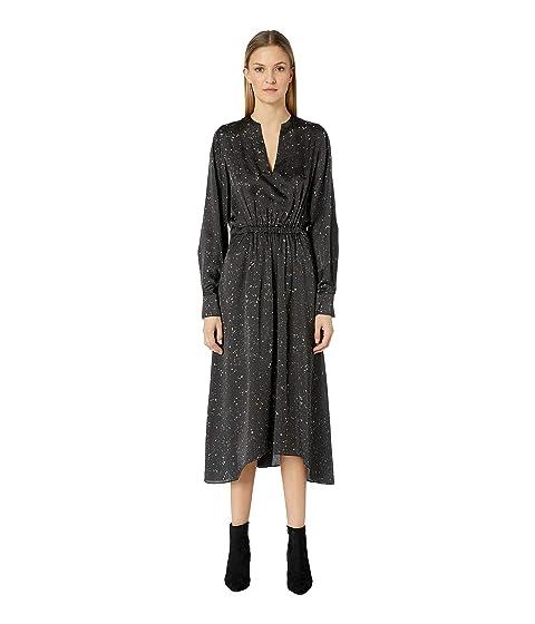 Vince Constellation Print Poet Dress