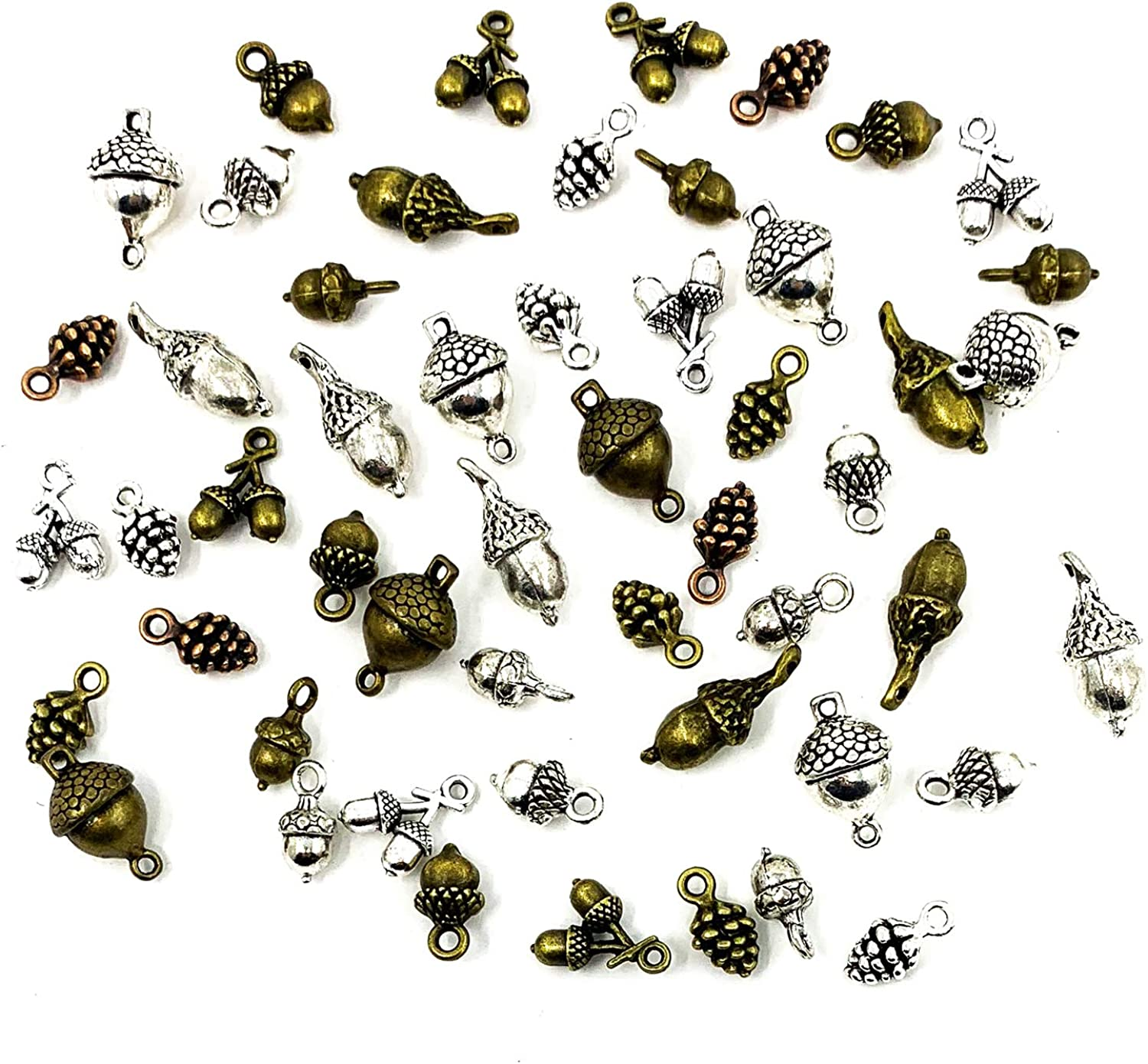 Max 48% OFF Pine Cone Acorn Charms Collection JIALEEY Tibetan Max 89% OFF - Mixed Style