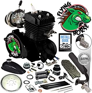 Flying Horse 66/80cc EPA Approved Black Angle Fire 2-Stroke Bicycle Engine Kit