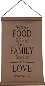 Farmhouse Kitchen Decor(14''x23''), Bless The Food Kraft Paper Scroll, Modern Home Wall Decor, Boho Wall Hanging Signs, Cute Vintage House Signs, Rustic Room Decor, Living Room Decor, Spring Decor