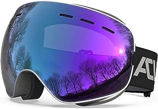 ACURE SG01 skidglasögon – OTG ramlösa snöskyddsglasögon, dubbel lins med anti-dimma och UV400-skydd för män, kvinnor och u...