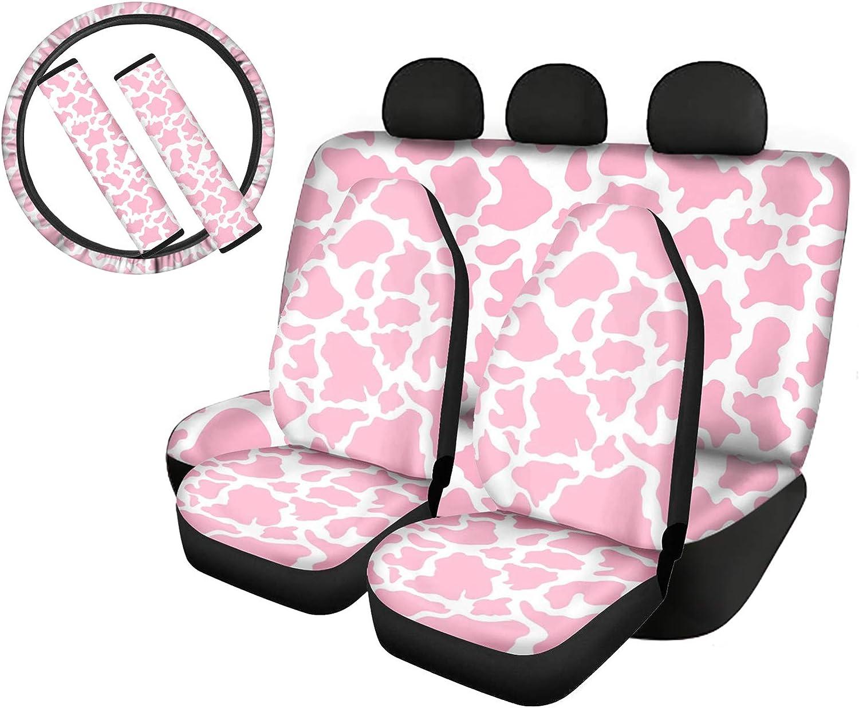 WELLFLYHOM Car 25% OFF Seat Cover Bucket Cow Print Protector Animal Ranking TOP18