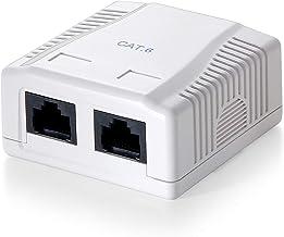 Equip 235212 - Caja de montaje en superficie, Cat.6, de 2 puertos, Versión 1, Blanco