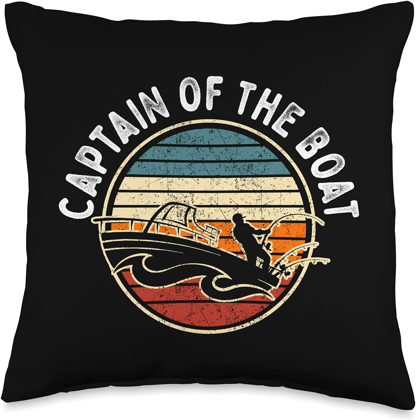 Boating Sailing Apparel Co Captain of The Boat Max 77% OFF Year-end annual account S Vintage Retro