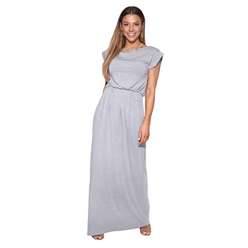 80268ac5b0c1c KRISP Womens Summer Maxi Dresses Short Sleeve Sleeveless High Waist