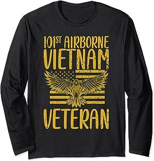 父の日Tシャツ 101st Airborne Division ベトナム退役軍人 長袖Tシャツ