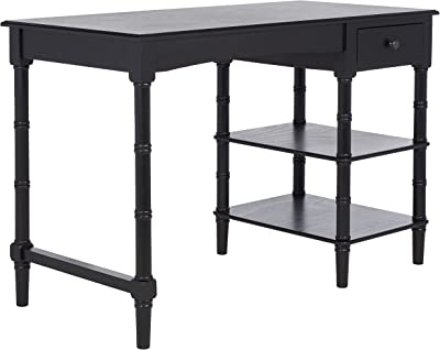 SAFAVIEH Home Collection Kaytee Distressed Grey Computer Table Office Desk DSK5712C, Black