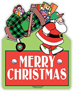 Stonehouse Collection Golf Merry Christmas Yard Sign - Golf Yard Sign - Holiday Golf Yard Sign - 24 x 18 Inch Holiday Sign