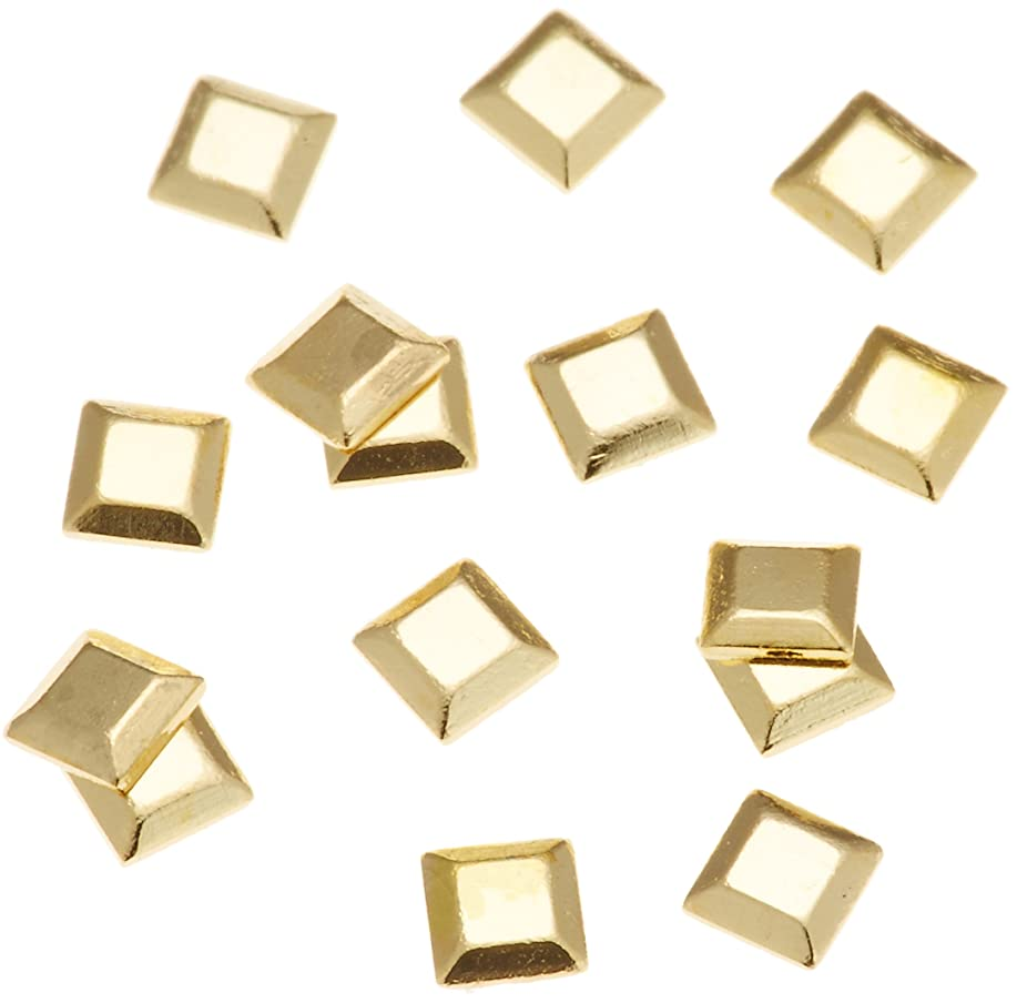 ずらすスマート争いリトルプリティー ネイルアートパーツ スタッズスクエア ゴールド 200個