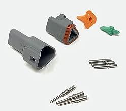 Deutsch DT Series 3 Pin Connector Kit w/Barrel Style Terminals 16-20 AWG