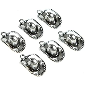 30pcs Antique Silver Cowboy Hat Charm for Jewelry Making Bracelet Accessories