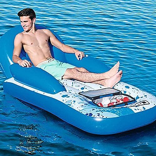 Aufblasbare Schwimmende Reihe Schwimmenden Stuhl Wasser Aufblasbarer Stuhl Schwimmbett Schwimmbad Aufblasbares Kissen Erwachsene Kinder Schwimmbad Schwimmende Beach Party Pool Lounge Stuhl,A