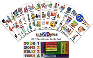 SchKIDules 109 Pc Special Needs/Home-Themed Magnet Collection for Visual Schedules, Kids Calendars and Behavior Charts: 90 Activity Magnets Plus 19 Headings Magnets (2nd Ed)