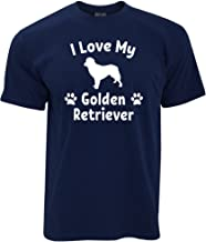 Tim And Ted Dog Owner T Shirt I Love My Golden Retriever