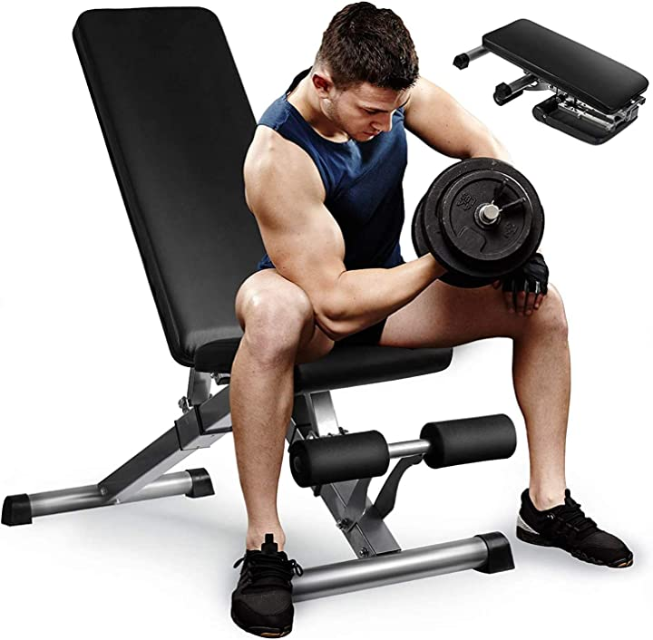 Panca pesi panca palestra professionale gym richiudibile reclinabile, per principianti/esperti,massimo 250 kg B08K3D55GY