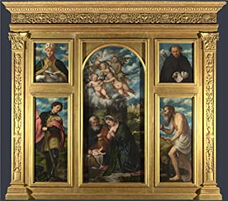 The Polyster Canvas Of Oil Painting 'Girolamo Romanino High Altarpiece S. Alessandro Brescia ' ,size: 30 X 34 Inch / 76 X 86 Cm ,this High Resolution Art Decorative Canvas Prints Is Fit For Dining Room Gallery Art And Home Artwork And Gifts