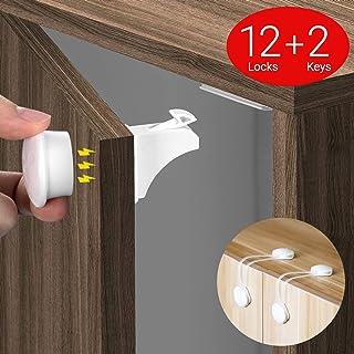 COSYLAND Cerraduras Invisible Magnéticas de Seguridad para