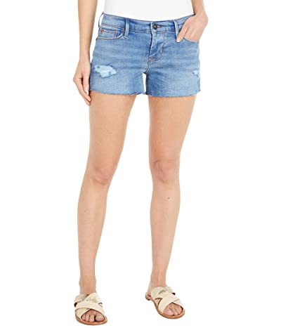 Hudson Jeans Amber Raw Edge Hem Shorts in Destructed Belle (Destructed Belle) Women