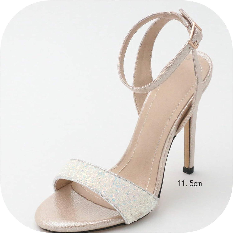 Platform Thin High Heel All Match Women Sandals Party shoes Wedding Pumps Sandals 34-43